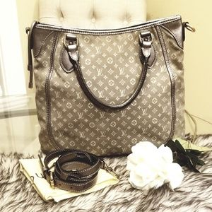 Part 1 Authentic LV Besace Angele Bag in Platine